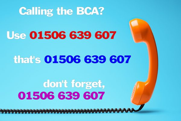 New contact number for the BCA