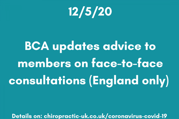 BCA updates advice to members on face-to-face consultations