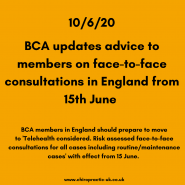 Updated advice for face-to-face consultations in England