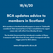 BCA updates advice to members in Scotland