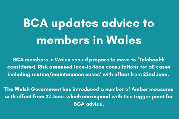 BCA updates advice to members in Wales