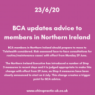 BCA updates advice to members in Northern Ireland